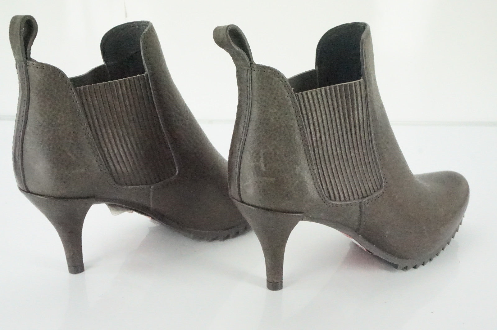 Pedro Garcia Brown Leather Justine Chelsea Stretch Ankle Boots Size 36 New $595