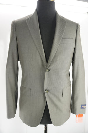 Hart Schaffner & Marx Beige Wool Los Angeles Men's Suit Size 38R $795 NEW Front