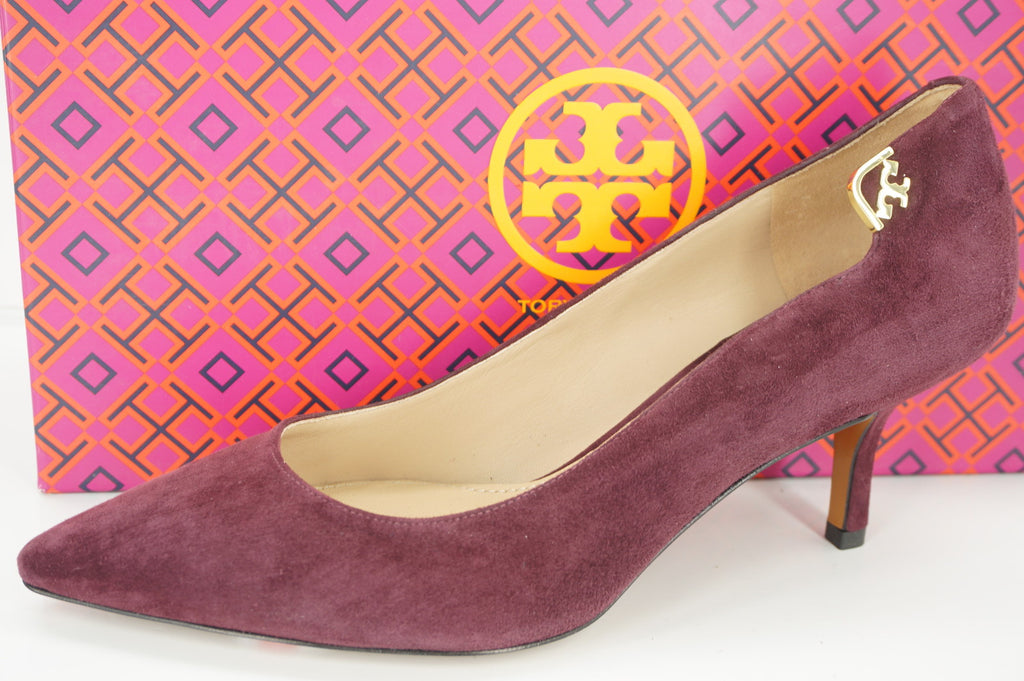 Tory Burch Elizabeth Mid Heel Pumps Suede PointyToe SZ 6.5 New $275