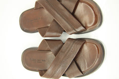 To Boot New York Brown Leather 'Viejo' Flip Flop Mens Sandals Size 9 $275