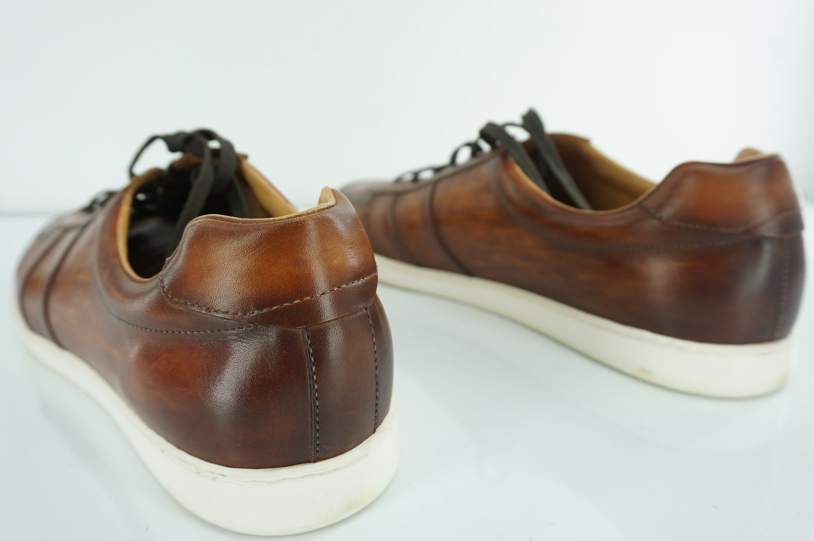 Magnanni Franco Distressed Brown Leather Low Top Sneaker SZ 13 New