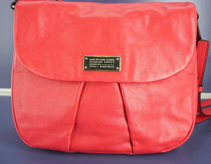 Marc Jacobs by Leather MARChive Crossbody Front Flap Bag $398 New Shoulder Purse