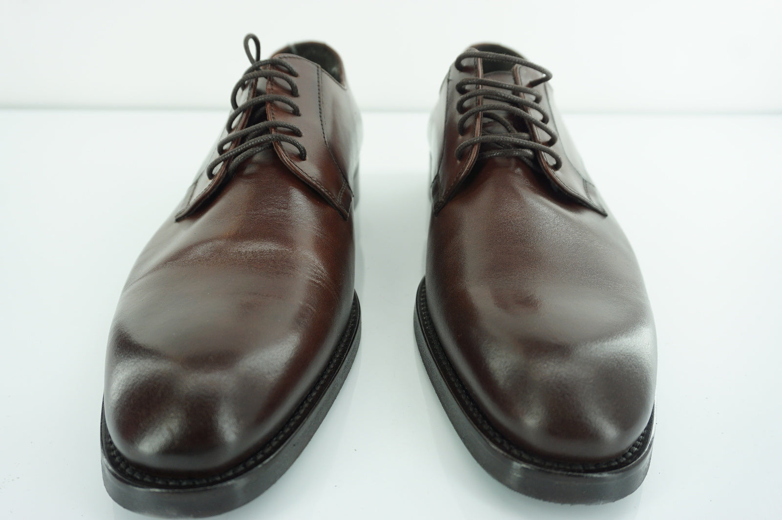 To Boot New York Brown Leather Brampton Plain Toe Oxford Derby SZ 9.5 NIB $395