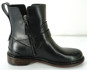 Rag & Bone Ashford Motorcycle Biker Ankle Boots SZ 35 Low Heel Belted New $595