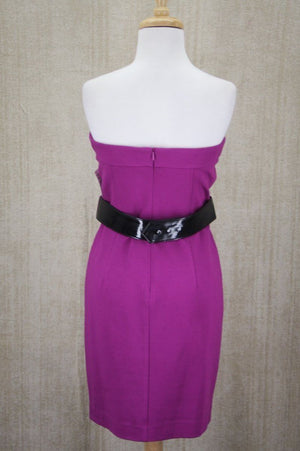 Trina Turk Purple Delphic Rayon Mini Dress Size 4 Sheath Women's $228 Sleeveless