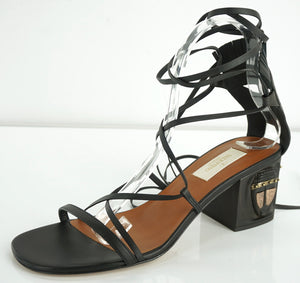 Valentino Garavani Tribal Mask Lace Up Gladiator Sandals Size 38 Strappy $1595
