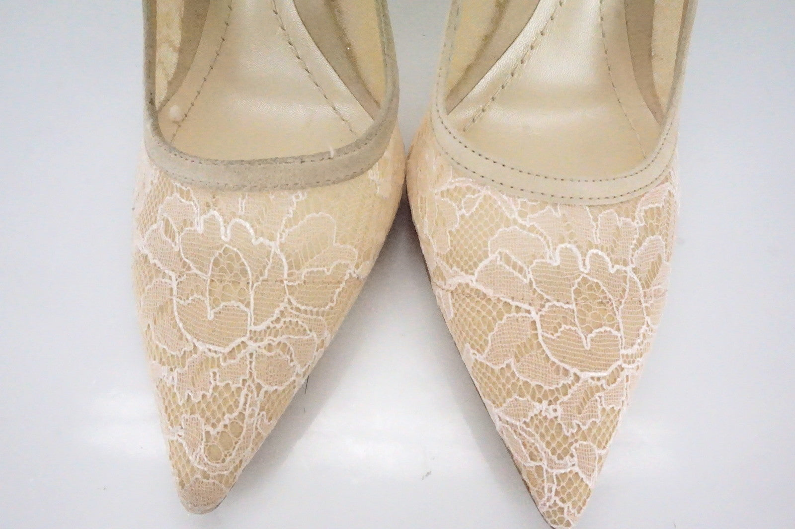 Christian Dior Nude Lace Mesh Lingerie Pointy Toe Pumps Size 36 NIB $830