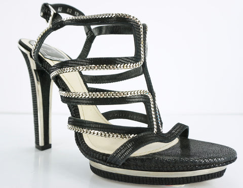 Christian Dior Womens Tejus Sandal Blacks Suede Size 39.5