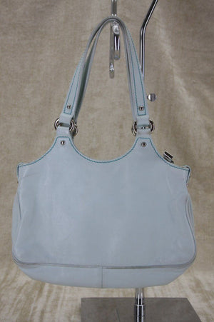 Marc Jacobs Seafoam Blue Leather Anouck classic push lock Shoulder Bag $850