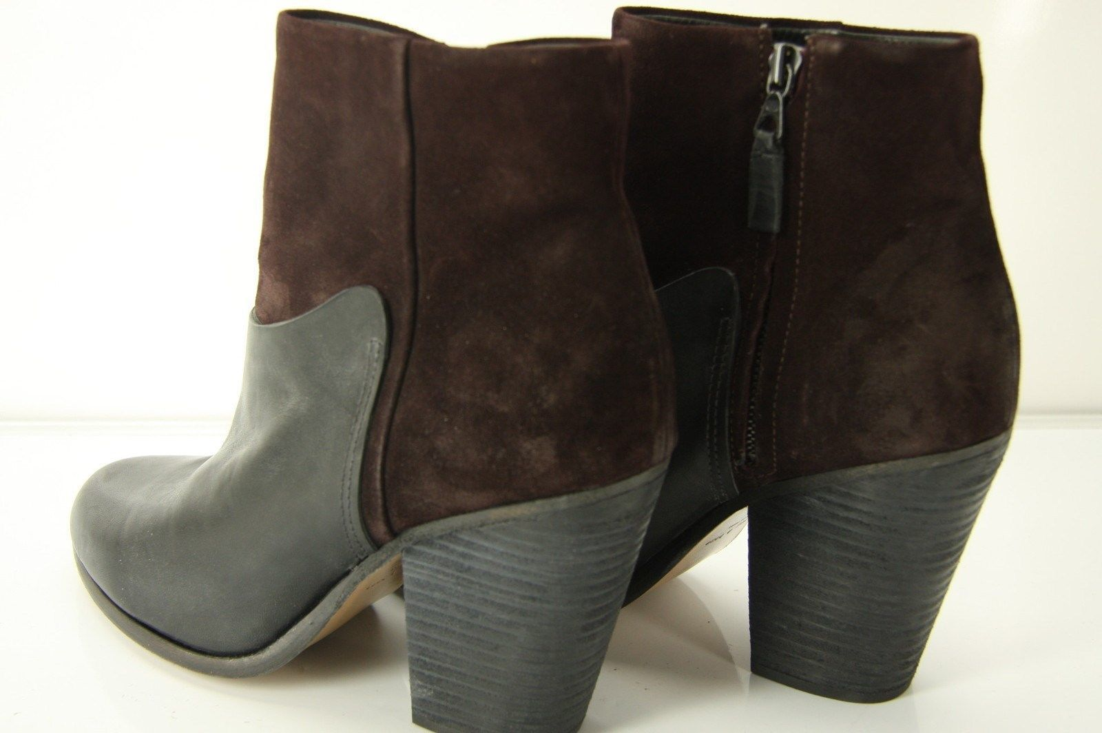 Rag & Bone Kendall Suede Leather Block Heel Ankle Boots size 40 10 NIB $550