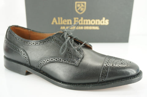 Allen Edmonds Madison Avenue Oxford Men's Shoes Size 9.5 Black Leather NIB $395