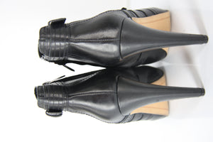 Sam Edelman Black Leather Kenley High Heel Ankle Boots Size 10 New $185