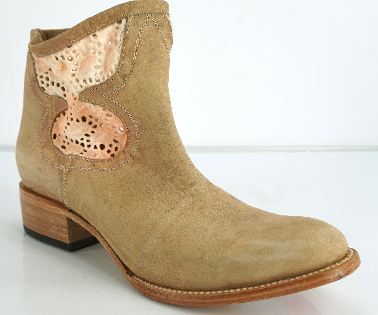 Freebird by Steven Cabcro Embroidered Canvas Leather Booties SZ 10 New $300