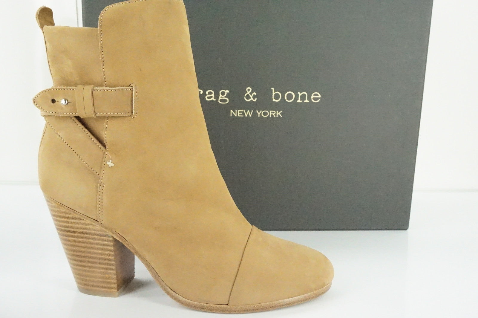 Rag And Bone Kinsey Brown Suede Ankle Boots Size 40 EU 10 NIB High Heel Nubuck