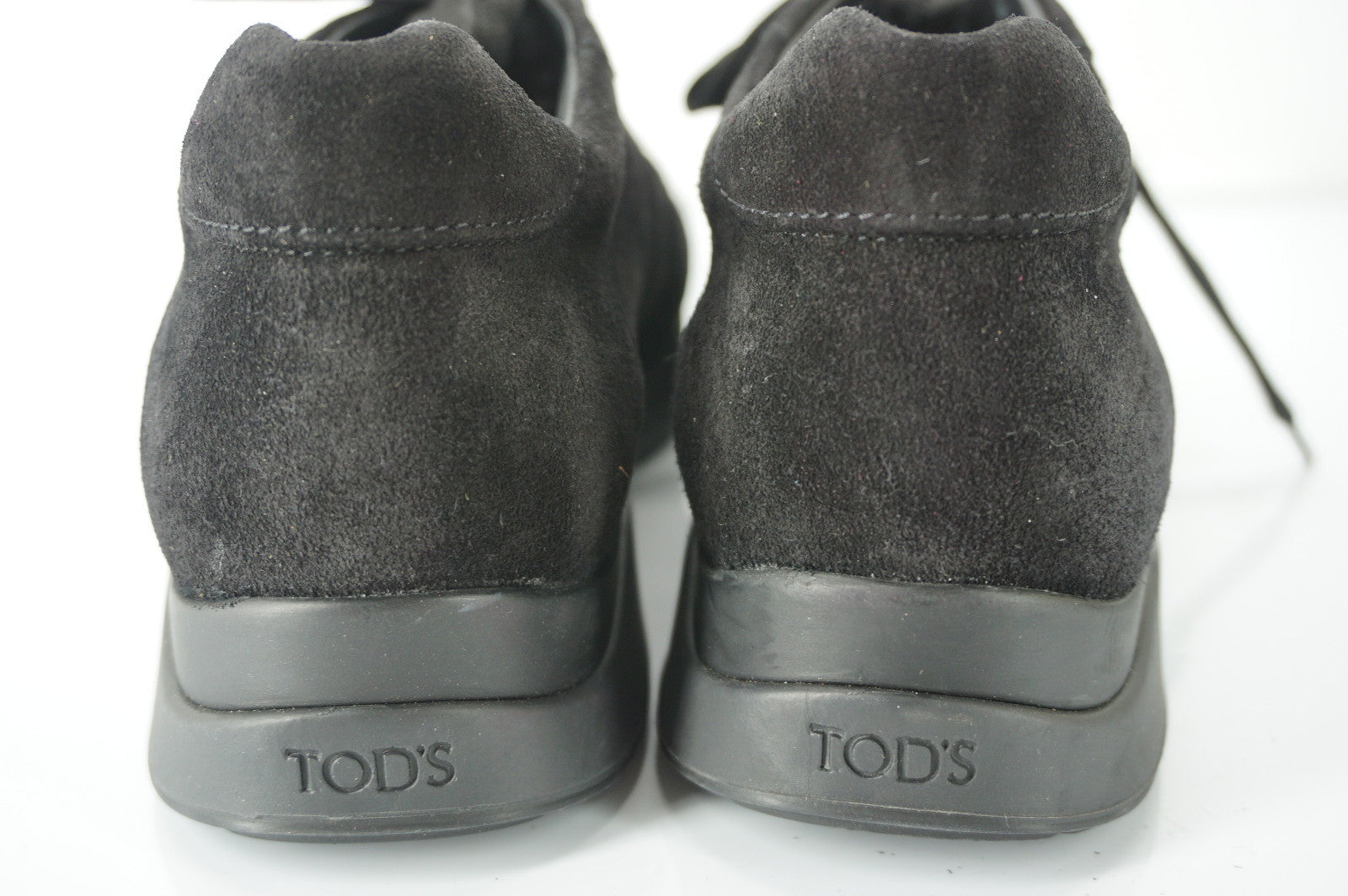 Tod's Sport Black Suede Women's Low Top Sneakers Size 38 Logo lace up New $525