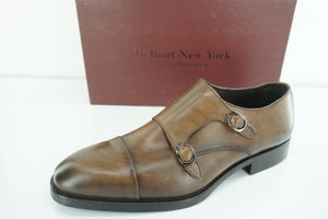 To Boot New York Barata Double Monk Strap Tan Loafers Size 10 Mens Adam Derrick