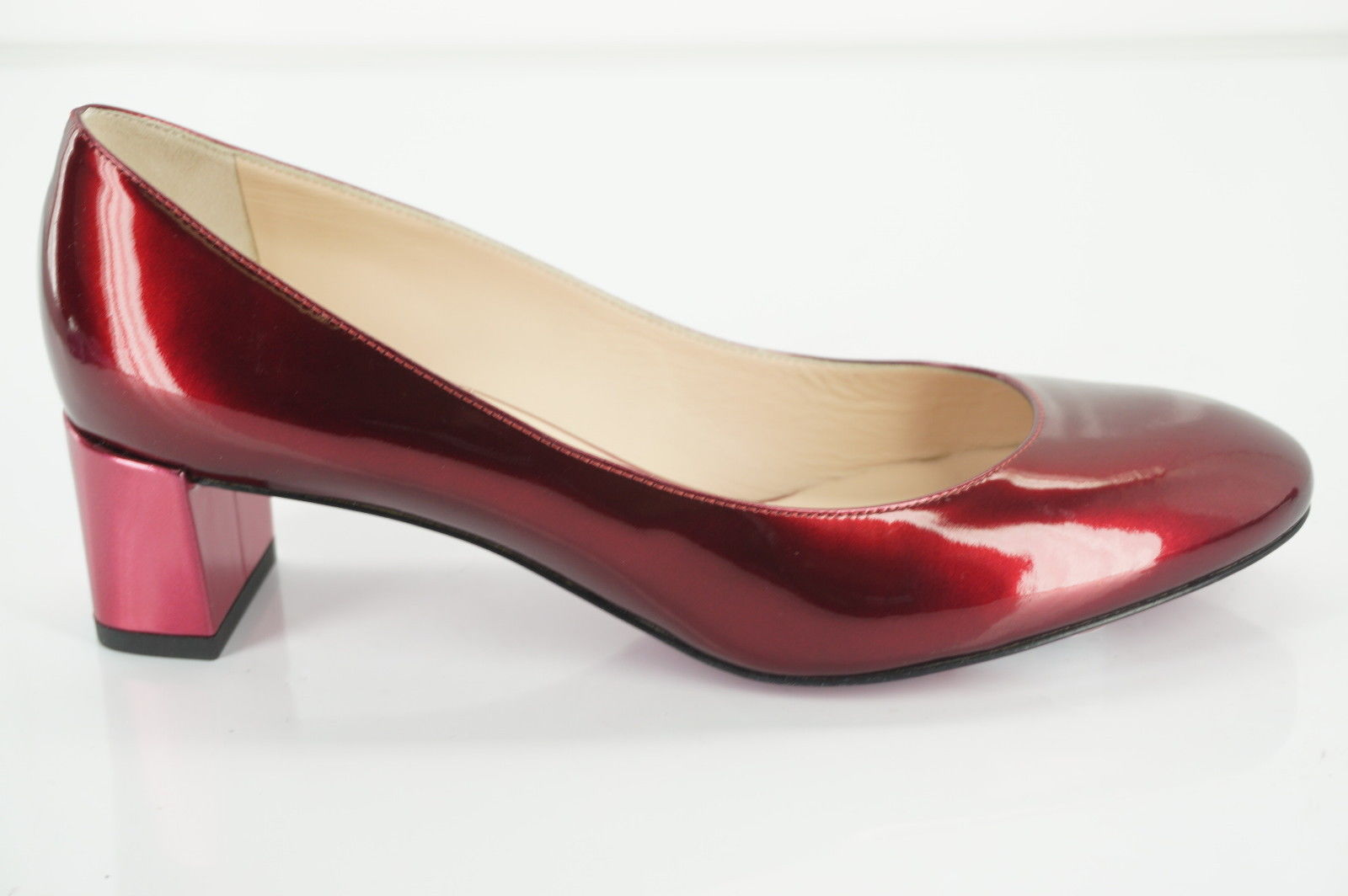 Fendi Womens Eloise Pump Red Patent Size 36.5