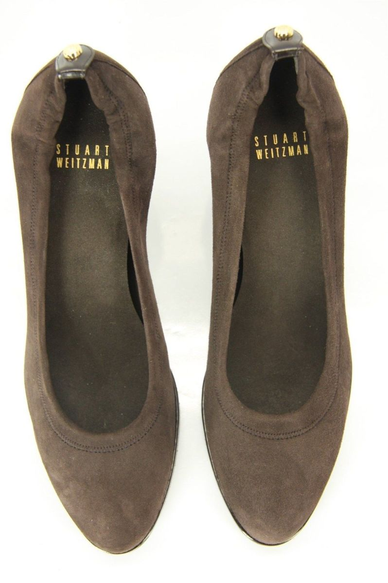 Stuart Weitzman Chime Suede Round Toe High Heel Pumps Size 8 New $385