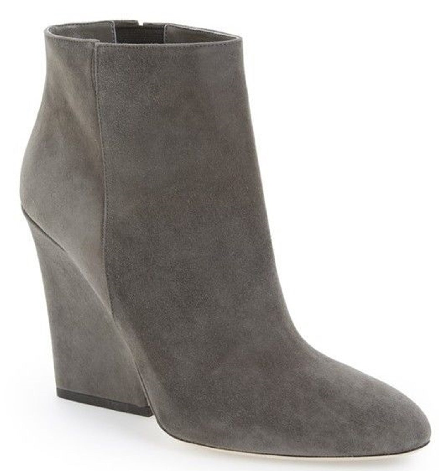 Jimmy Choo Suede Myth Wedge Ankle Boots SZ 38 New Short Classic Pointy Toe $975