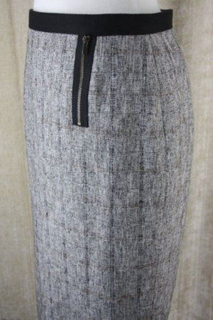 Classiques Entier Cotton Blend Gray pencil Skirt size 2 $198 tweed nordstrom