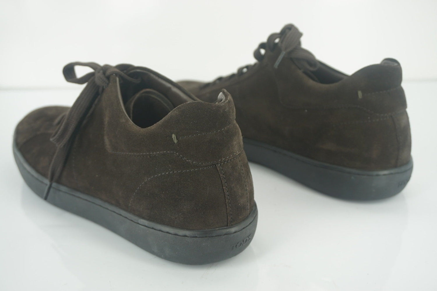 Tod's Men Suede Allacciato Classic Lace Up Low Top Sneaker SZ 8 New $475 Trainer