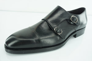 To Boot New York Barata Double Monk Strap Black Loafers Size 10 Men Adam Derrick