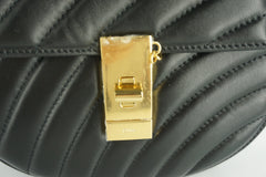 Chloe Black Quilted Leather Mini Drew Bijou Crossbody Gold Chain Bag NWT $1999