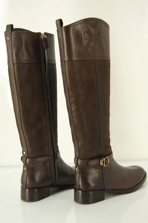 Tory Burch Brown Leather Simone Riding Boots SZ 5.5 $495 NIB