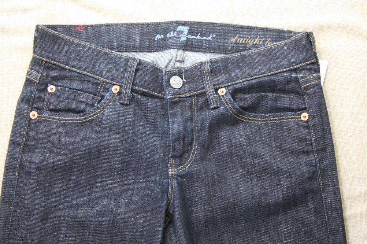 7 For All Mankind Straight Leg Mercer Wash denim Jeans size 25 $198 Womens