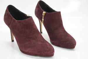 LK Bennett Wine Suede Doris High Heels Ankle booties Size 36.5 New $395 Women's
