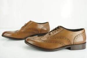 To Boot New York Brown Parsons Wingtip Shoes size 10 M Adam Derrick NIB Men's
