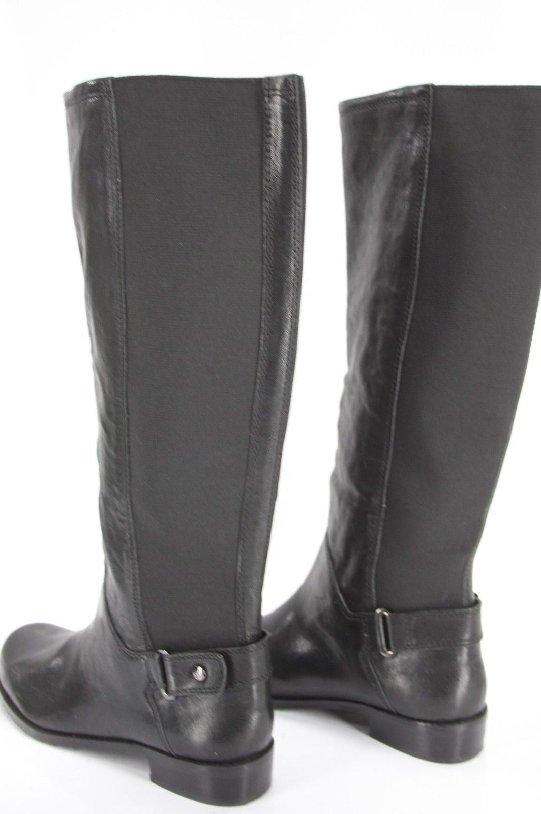 Stuart Weitzman Accumulate Black Knee High Riding Boot SZ 6.5 Stretch Back $625