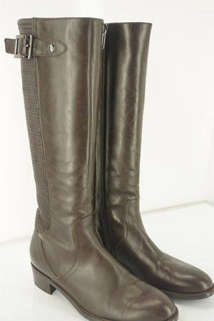 vtg Choco Brown Aquatalia Riding Boots Suede and Leather Size 7 12