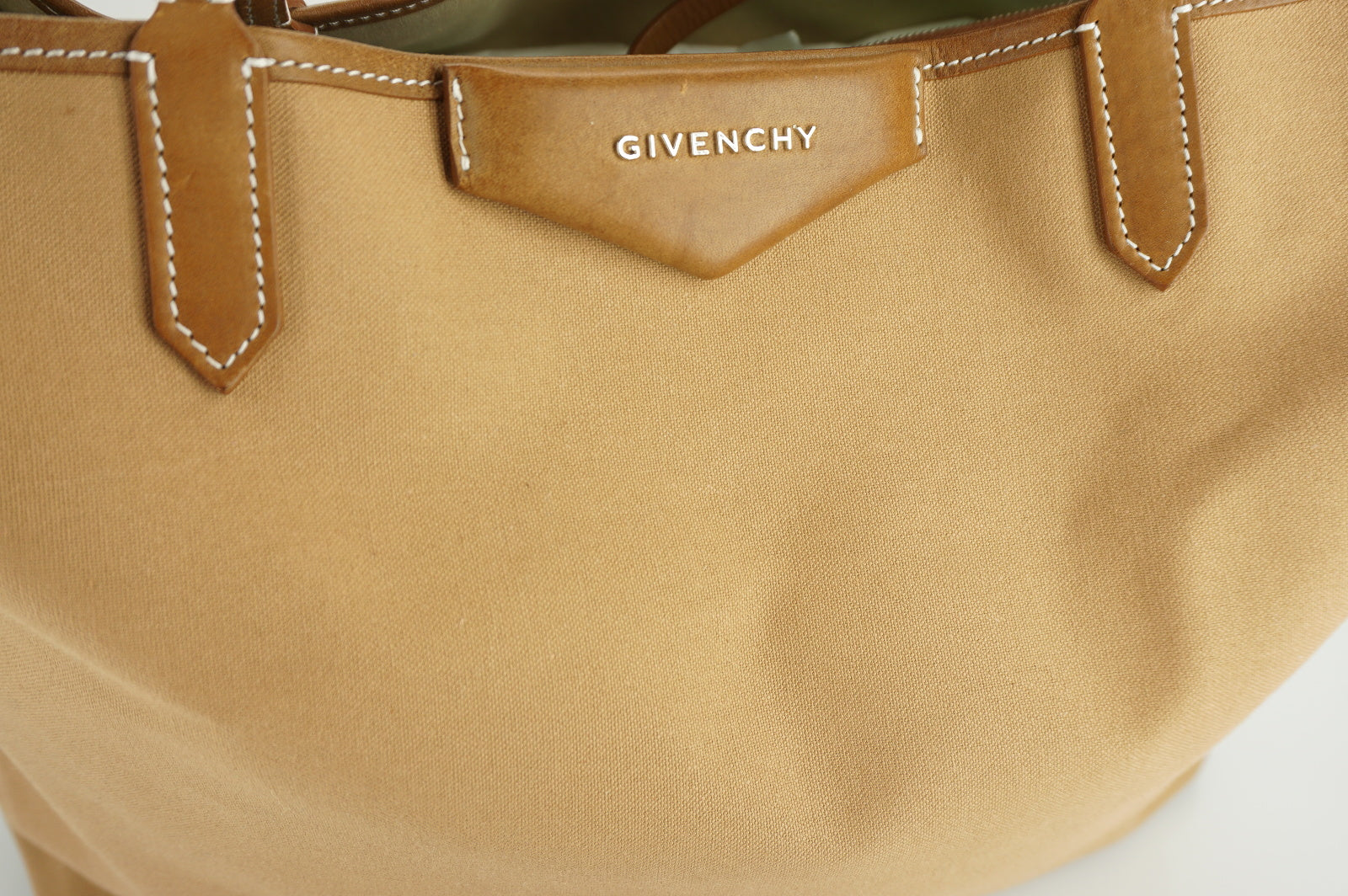 Givenchy Womens Antigona Shopping Bag Tote Bag Brown Canvas Size Large