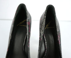 Brian Atwood Womens savita Platform Pump Black Leather Size 7.5