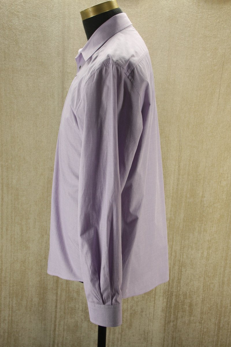 Gucci Men's Fitted Purple Lilac Cotton Button Down Dress Shirt Size 17 43 $350