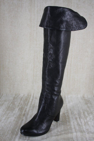 Sam Edelman Black Leather 'Sable' Over the Knee High Heel Boots size 5 New $249
