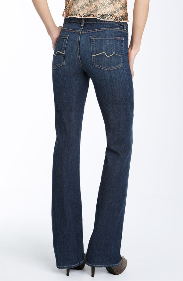 7 For All Mankind Katerina Blue Wash High Rise Bootcut Jeans size 25 New $199