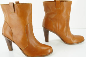 Cole Haan Leather Kendall pull On Ankle Boots SZ 10.5 $278 New Western Cowboy