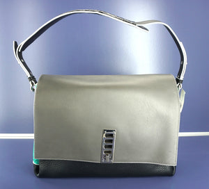 Proenza Schouler PS Elliot Ostrich Leather Shoulder Bag $1925 New Lock Crossbody
