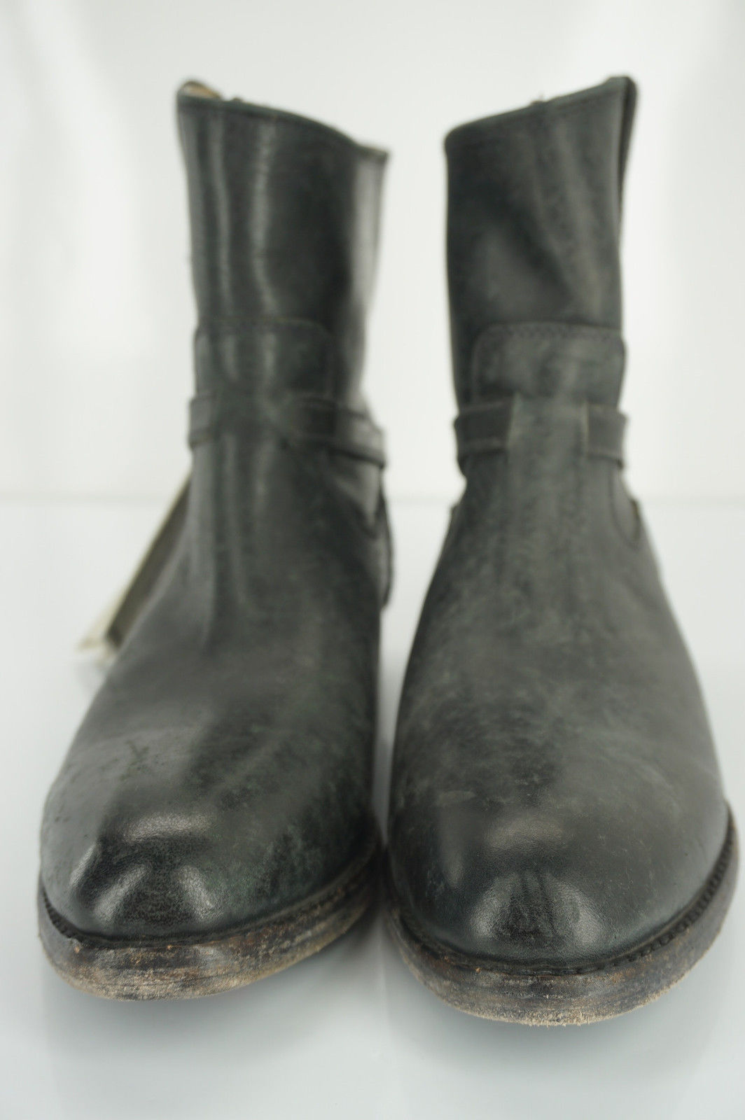 Frye Womens Lindsay Plate Ankle Boot Black Leather Size 6.5