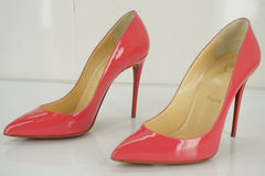 Christian Louboutin Pigalle Follies Pink Patent Pointy Pumps SZ 37.5 NIB $795