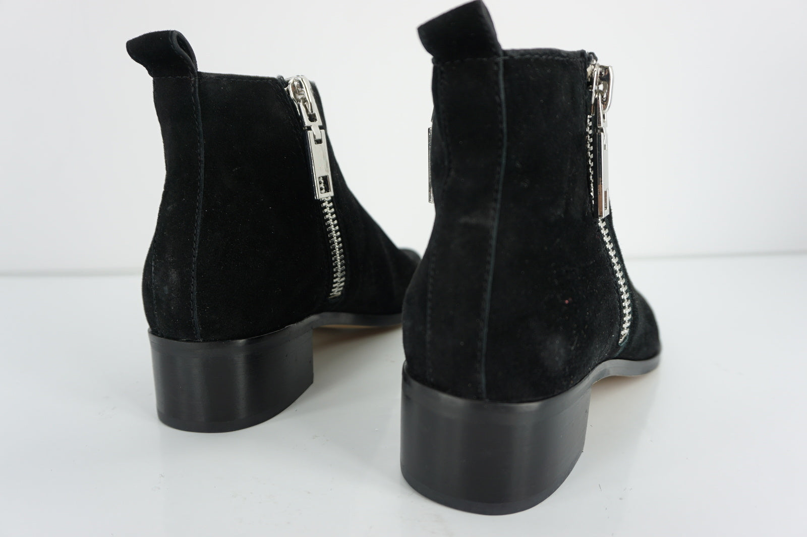 Dolce Vita Marra Double Zip Black Suede ankle booties size 6.5 New $160
