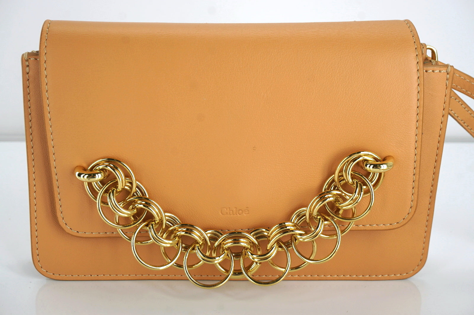 Chloe Leather Mini Drew Bijou Crossbody Gold Chain Shoulder Bag NWT $1150 Clutch