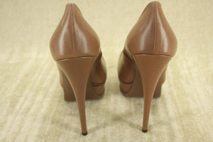 Yves Saint Laurent Tribute Leather Platform Heel Pump SZ 39 NIB $850 YSL 105 mm