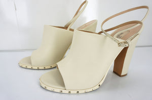 Valentino Rockstud Soul Spiked Ankle Strap Sandal Size 39 Peep Toe New $945