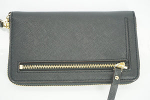 kate spade new york black Leather Cobble Hill Lacey Continental Zip Wallet $148