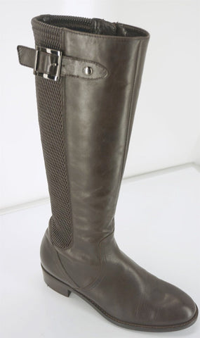 Aquatalia by Marvin K Brown Leather Omni Riding Boots Size 6.5 Weatherproof $550