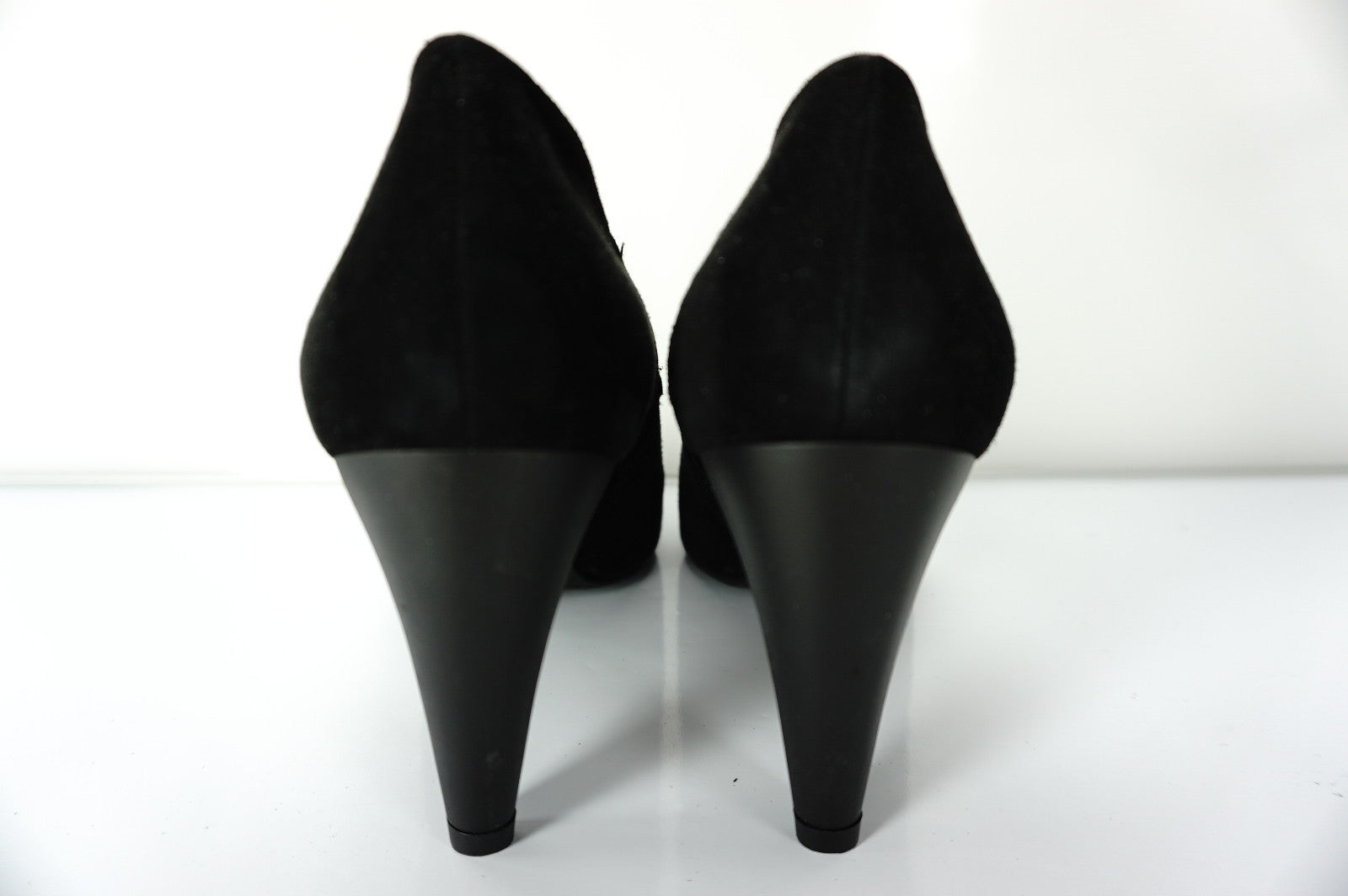 "Stuart Weitzman Black Suede 'Bootie"" Black Ankle Boot Pumps Size 8 NIB $425"