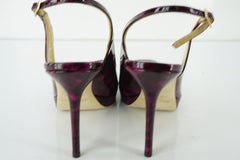 Jimmy Choo Nova Patent Leather Peep Toe Slingback Sandal SZ 39 New Platform $750